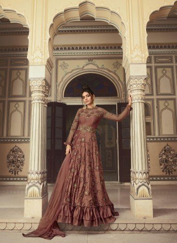 Designer Party Wear Semi-Stitched Indo Western Suit