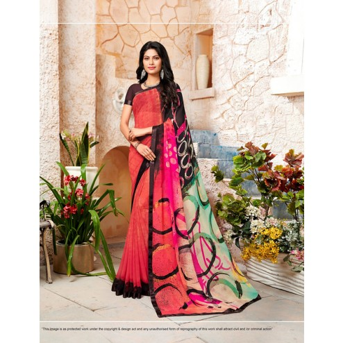 Designer Casual Wear Georgette Saree