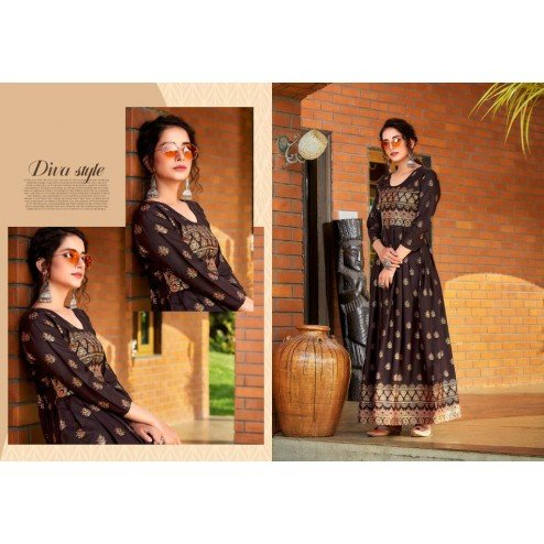 Designer Party Wear Readymade Long Gown Kurti