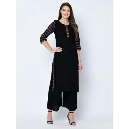 Designer Casual Wear Rayon Kurti Set