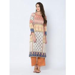 Designer Casual Wear Art Silk Kurti Set