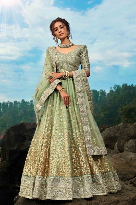Heavy Designer Weadding Wear Soft Net Lehenga Choli